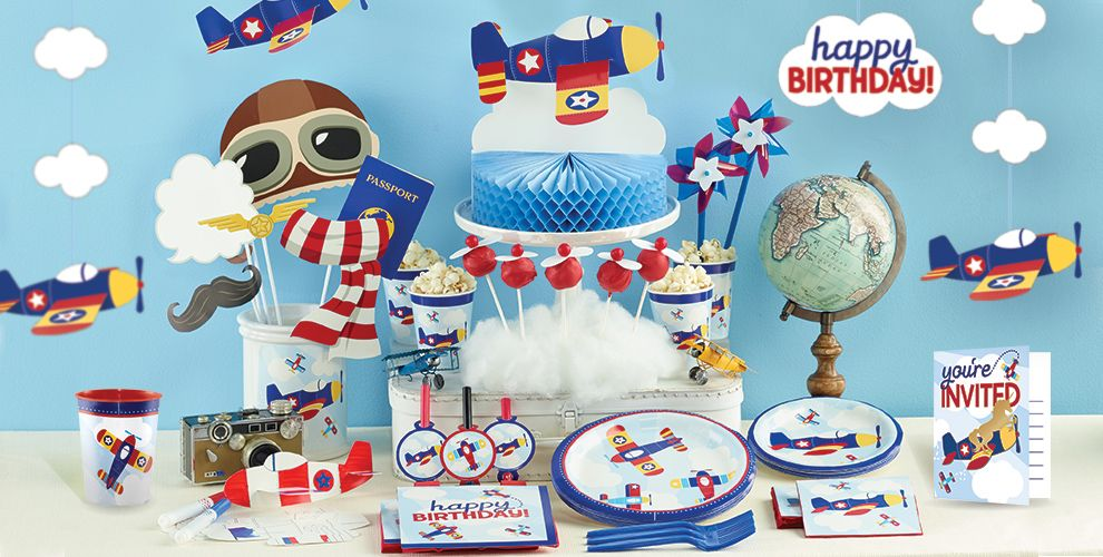 Airplane 1st Birthday Party Supplies