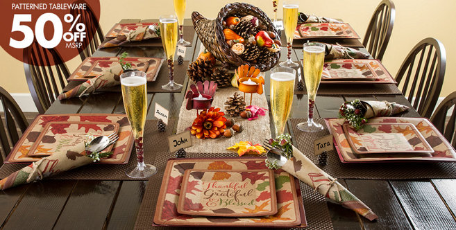 Thanksgiving Autumn Traditions Party Supplies Party City
