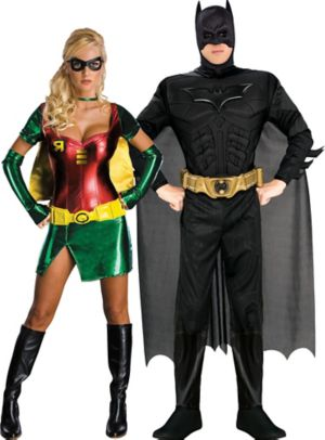 Batgirl and Sexy Robin Couples Costumes - Batman