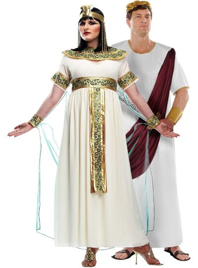 Plus Size Cleopatra and Augustus Caesar Couples Costumes