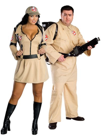 Plus Size  Ghostbusters Couples Costumes