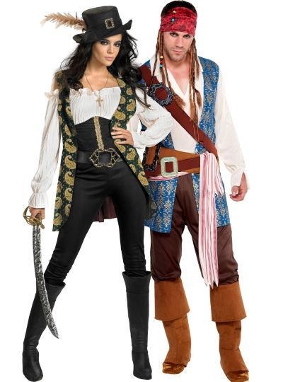 Pirates of the Caribbean Couples Costumes