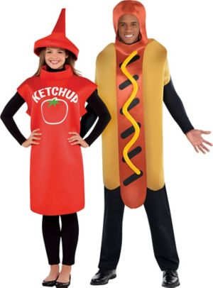 Adult Classic Ketchup & Hot Diggity Hot Dog Couples Costumes