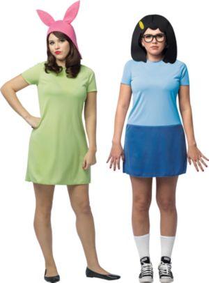 Adult Louise Belcher & Tina Belcher Couples Costumes - Bob's Burgers