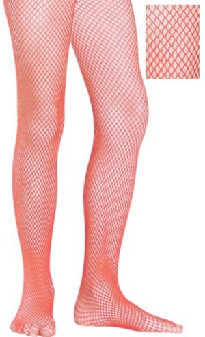 Child Red Fishnet Pantyhose