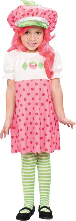 Toddler Girls Classic Strawberry Shortcake Costume