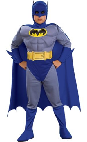 Little Boys Batman Muscle Costume - The Brave and the Bold