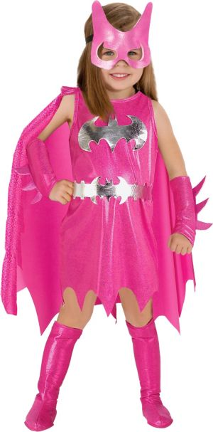Toddler Girls Pink Batgirl Costume - Batman