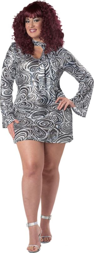 Adult Disco Diva Plus Size 70s Disco Costume