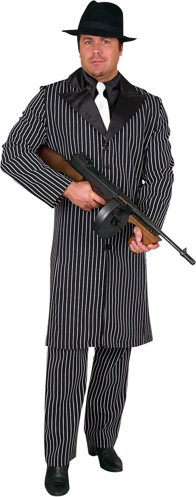 Adult Long Coat Gangster Costume