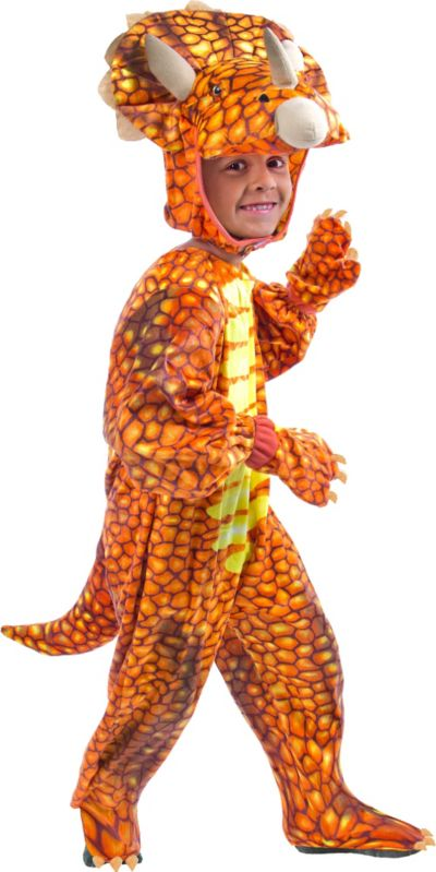 Toddler Boys Red Triceratops Dinosaur Costume