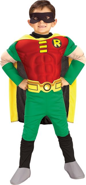 Little Boys Robin Muscle Costume Deluxe - Teen Titans