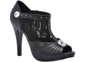 Jazzy Black Flapper Shoes