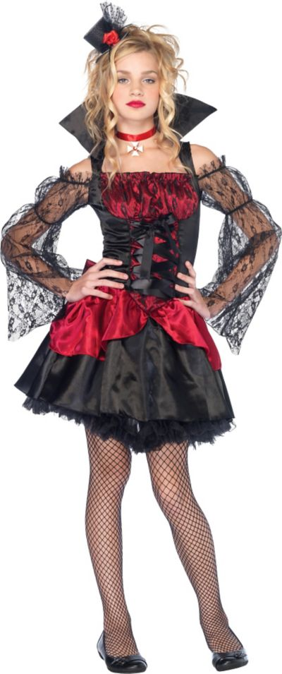 Teen Girls Victorian Vampire Costume