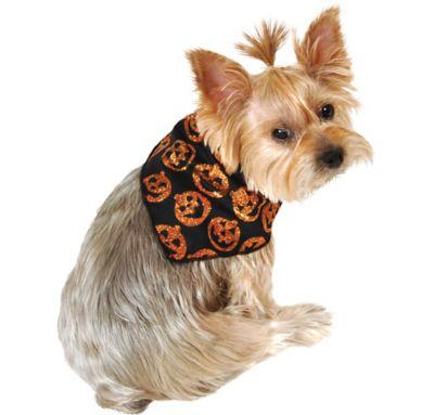 Glitter Pumpkin Dog Bandana