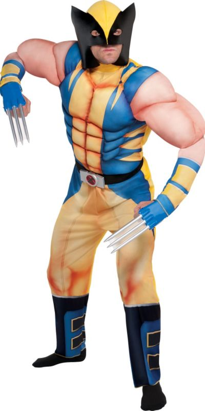 Adult Wolverine Muscle Costume