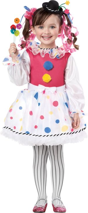 Toddler Girls Cutsie Clown Costume