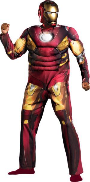 Adult Mark VII Iron Man Muscle Costume Plus Size