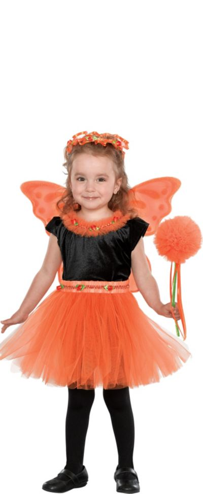 Girls Orange Madden Fairy Princess Costume