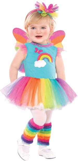 Toddler Girls Rainbow Fairy Costume