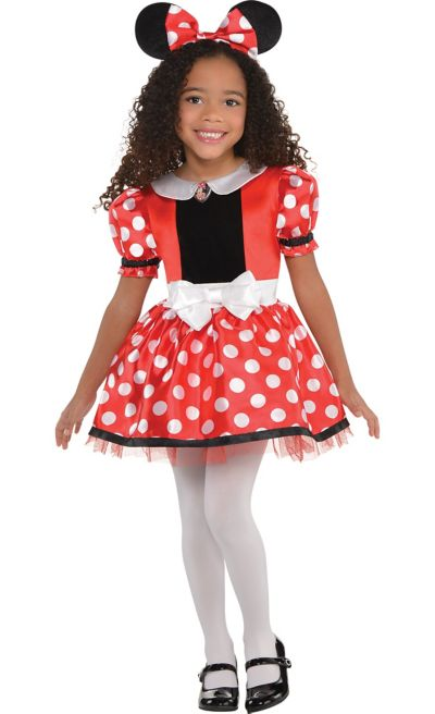Girls Red Minnie Mouse Costume