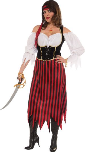 Adult Pirate Maiden Costume Plus Size