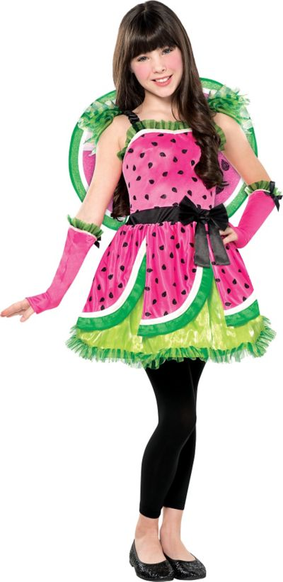 Girls Watermelon Fairy Costume
