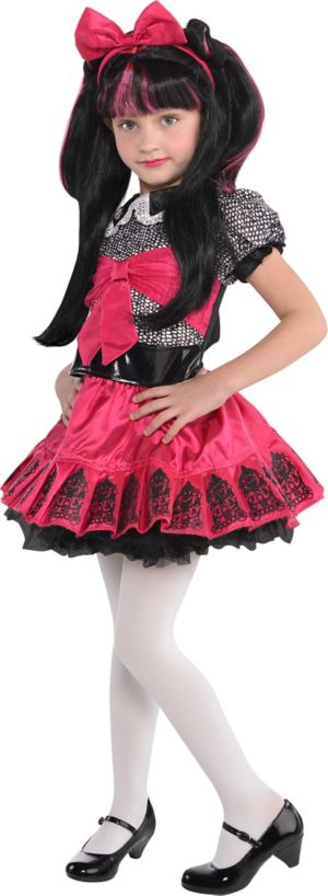 Little Girls Monster High Draculaura Costume