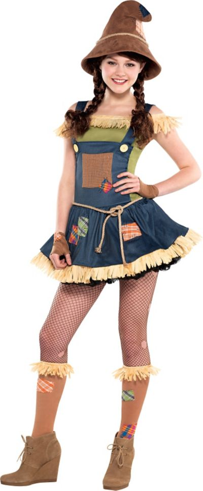 Teen Girls Sweet Scarecrow Costume