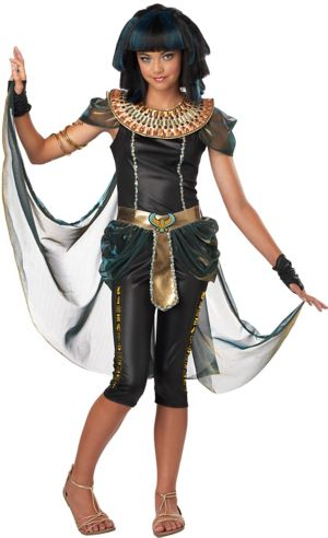 Teen Girls Dark Egyptian Princess Costume