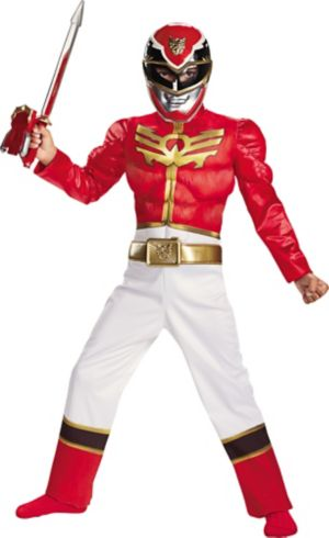 Boys Red Ranger Muscle Costume - Power Rangers Megaforce