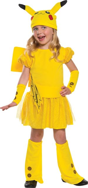 Girls Pikachu Costume Deluxe - Pokemon