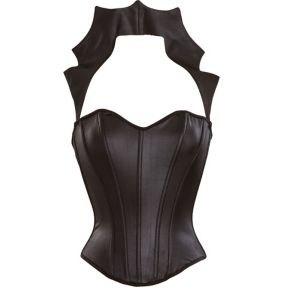 Vamp Faux Leather Black Corset