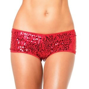 Adult Red Sequin Boyshorts