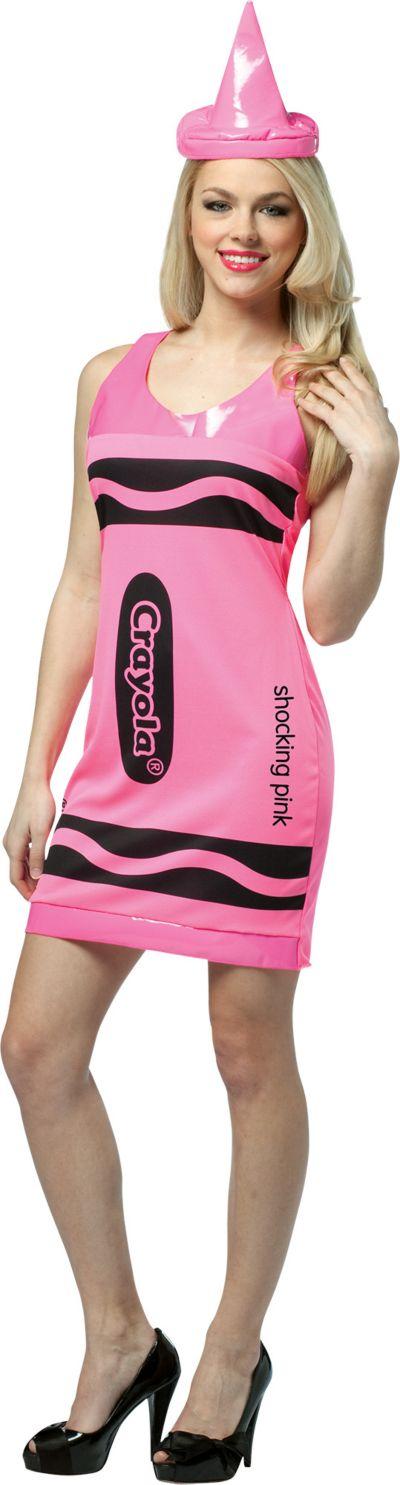 Adult Shocking Pink Crayola Crayon Costume