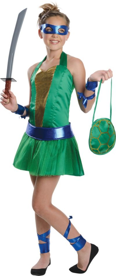 Teen Girls Leonardo Costume - Teenage Mutant Ninja Turtles