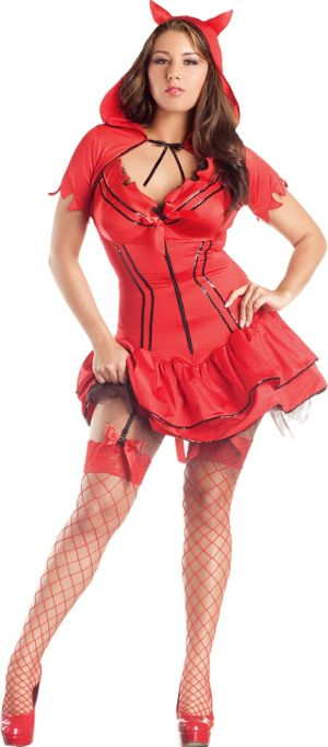 Adult Devil Body Shaper Costume Plus Size
