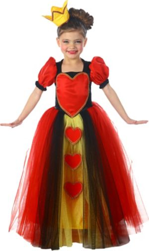 Girls Princess Queen of Hearts Costume
