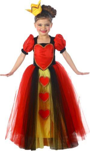 Girls Princess Queen of Hearts Costume