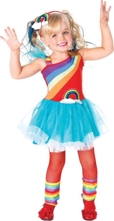 Toddler Girls Rainbow Doll Costume