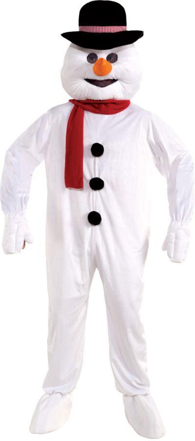 Adult Mascot Snowman Jumpsuit Costume