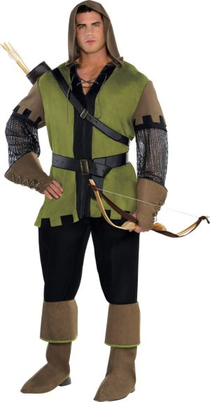 Adult Prince of Thieves Robin Hood Costume Plus Size