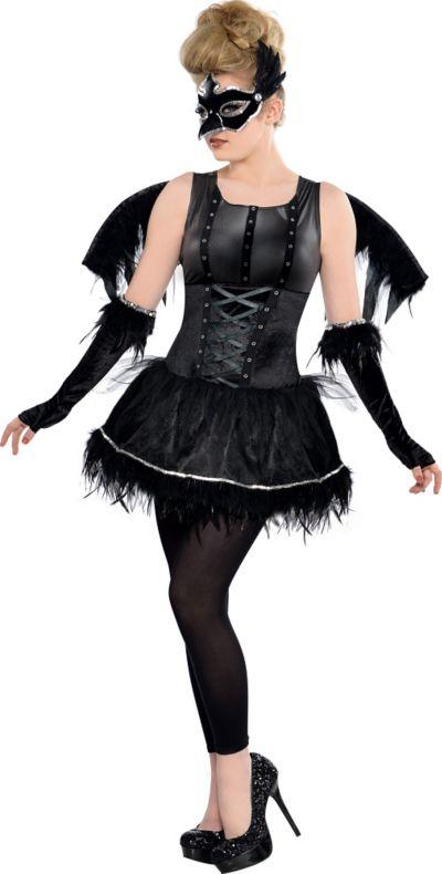 Teen Girls Midnight Raven Costume