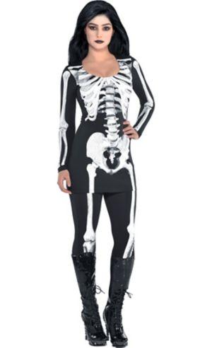 Adult Bare Bone Skeleton Costume
