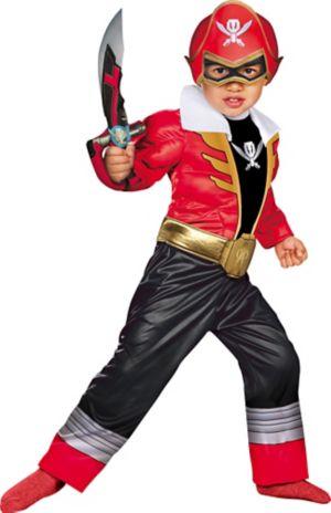 Toddler Boys Red Ranger Muscle Costume - Power Rangers Super Megaforce