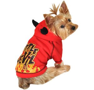 Red Little Devil Dog Hoodie