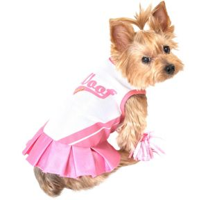 Pink Cheerleader Dog Costume