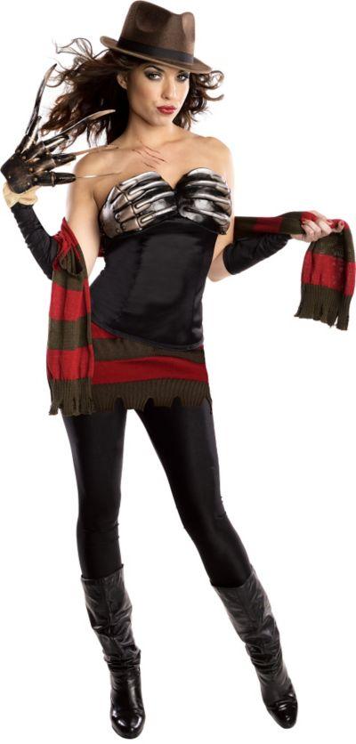Adult Corset Freddy Krueger Costume - A Nightmare on Elm Street