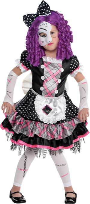 Little Girls Damaged Doll Costume