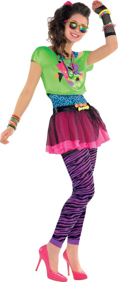 Teen Girls Totally Awesome 80s Costume